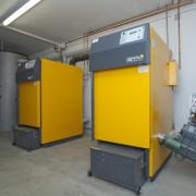 Hackgutheizung Doppelanlage / Fa. Wolf / Osterhofen
